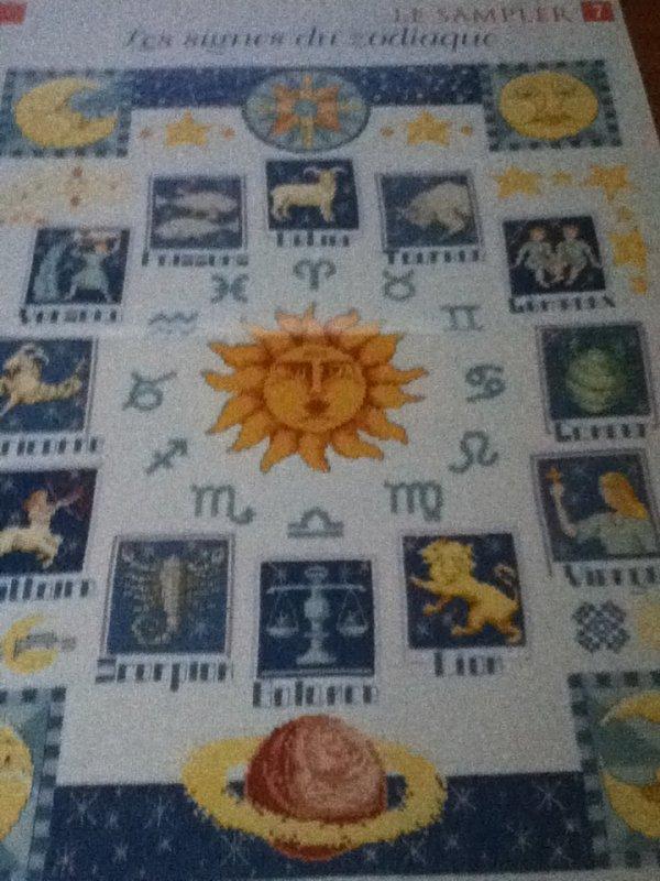 grille  N° 71 les signes du zodiaques