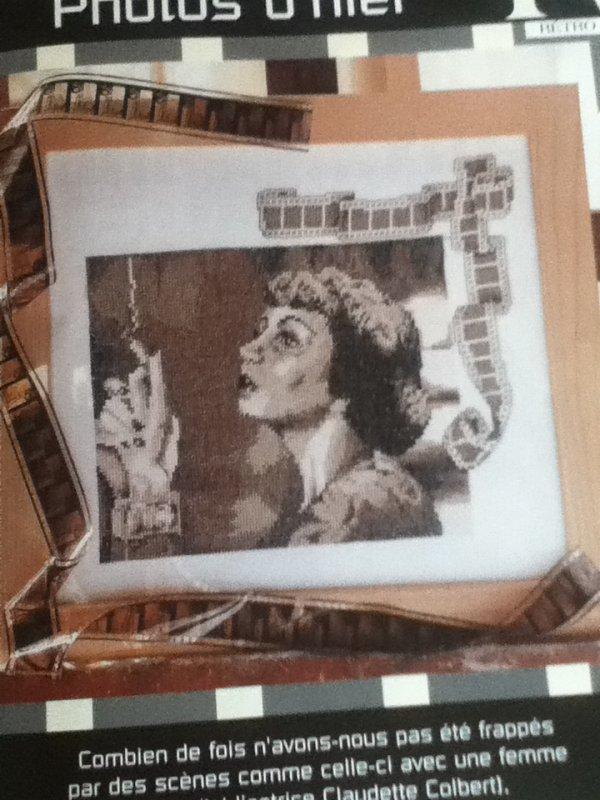 grille  N° 84 portrait claudette colbert