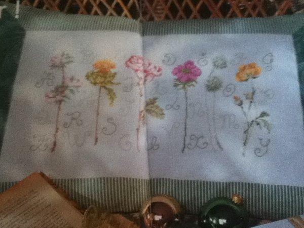 grille  N° 87 fleur N°1
