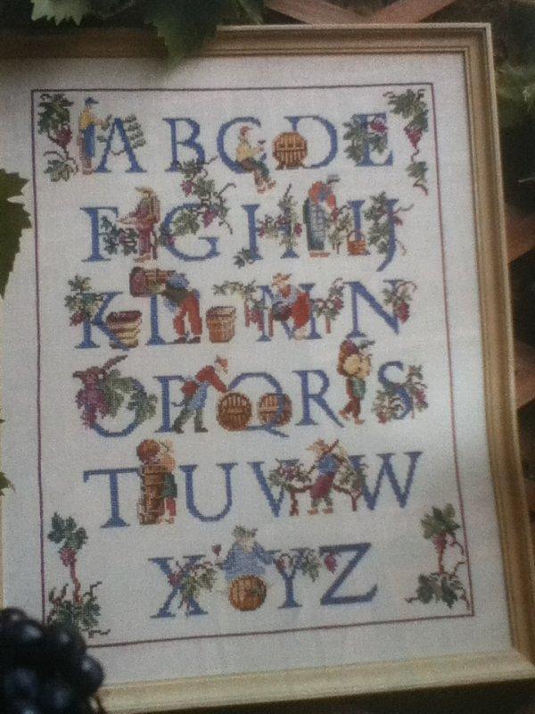 grille  N° 90 alphabet N°1