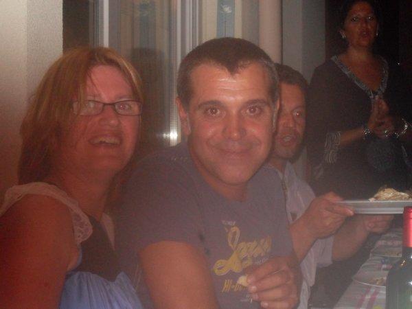 Philippe ,  victor et moi à l'anniversaire de jean-michel le 22 Août 2013