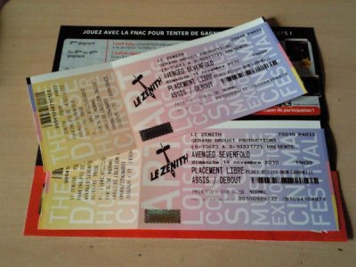 14 Novembre 2010 - Paris - Avenged Sevenfold