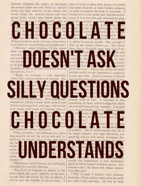 Le chocolat comprend.