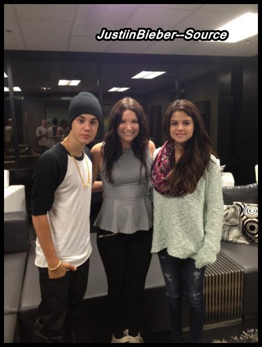 Justin et Selena sur le plateau de sont nouveau film .