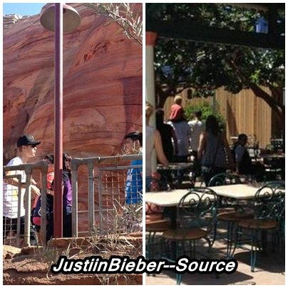 Justin et sa famille à disneyland .