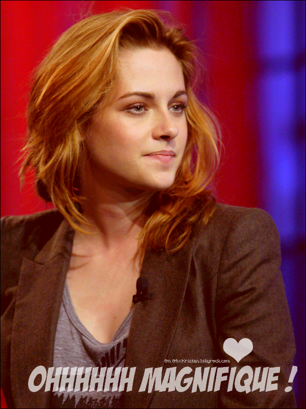 Kristen le 10 Ocotobre 2010 au The Tonight Show de Jay Leno