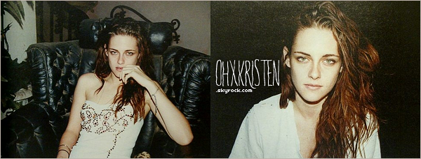 January 15 2013  - Des nouvelles photos de Kristen pour W magazine en février, magnifique. que penses tu des photos?