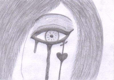 Oeil du 39 une fille qui pleure dessins dla stroumphette - Image de stroumphette ...