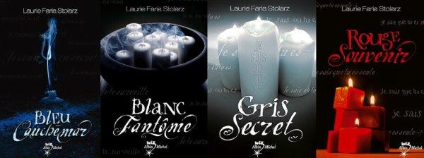 Bleu Cauchemar, Blanc Fantome, Gris Secret, Rouge Souvenir