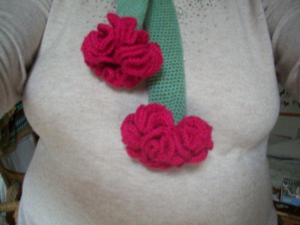echarpe aux fleurs