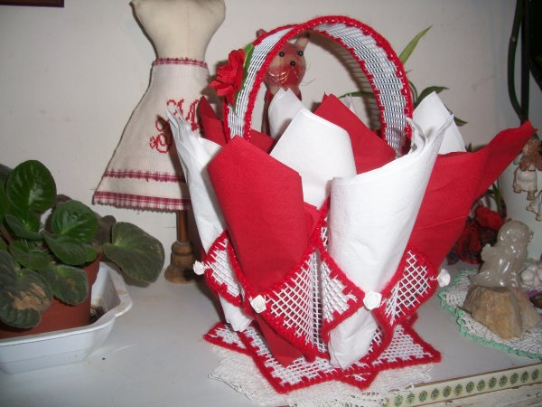 panier porte serviettes