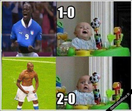 Balotelli choque un Bébé!