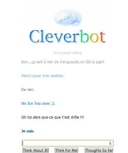 Ah,sacré cleverbot !!!