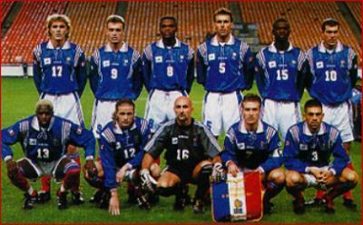Matchs amicaux france ecosse 1997 quipe de france de - Coupe du monde 1994 equipe de france ...