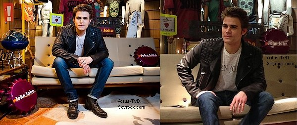 Le 20 juin, Paul Wesley s'est rendu dans le showroom de la marque John John à Sao Paulo. Il est très beau avec cette veste !
