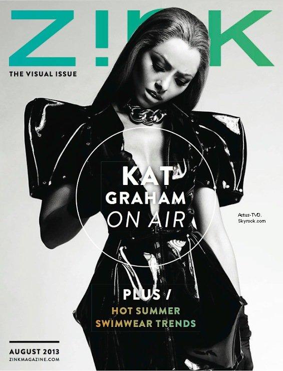 Kat Graham fait la couverture du dernier numéro du magazine Zink.