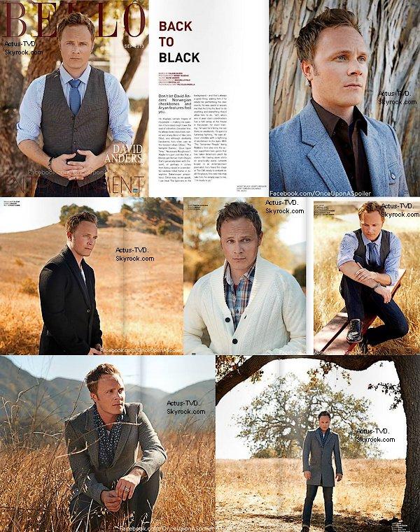 David Anders (John Gilbert) est en couverture de l'édition d'automne du magazine américain Bello. Très belle série de photos.