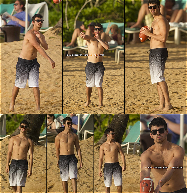 26/12/2011 :  Toujours en vacances à Hawaï, Joe a été vu jouant au football Américain avec on-ne-sais-qui.