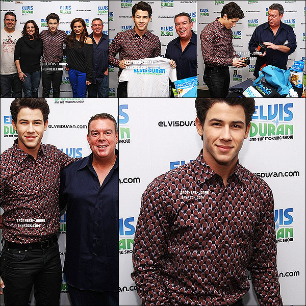 31 Janvier  : Voici des Photos de l'Interview de Nick Jonas  au morning de la radio Z100  à New York City.