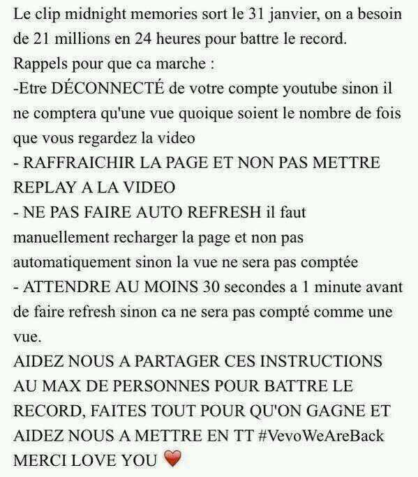/!\ #Important, Projet #RecordVevo pour #MM /!\