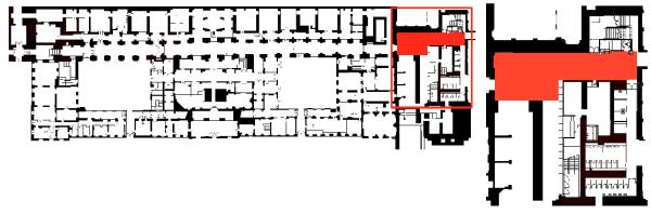 Sous sol- Pavillon Dufour - 1 Hall d'accueil