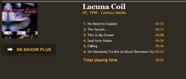 Lacuna Coil EP, 1998 - Century Media Records