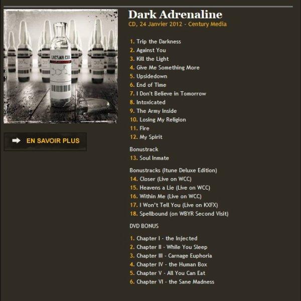 Lacuna Coil Dark Adrenaline