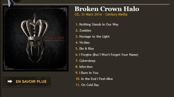 Broken Crown Halo CD, 31 Mars 2014 - Century Media
