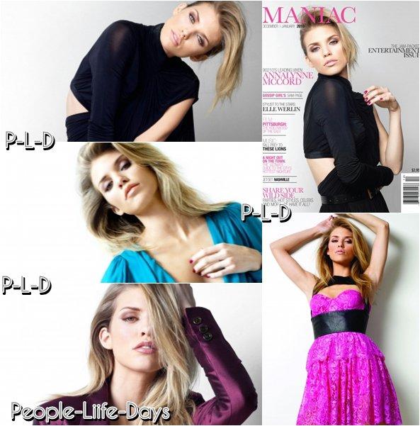 "Photoshoot d'AnnaLyne dans le magazine ""Maniac"""
