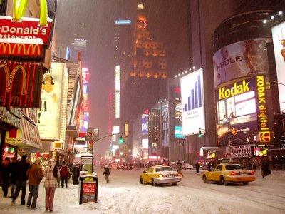 New-York dans la neige