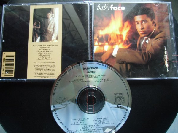 Babyface 1986 Lovers CD Solar records/Epic AAD