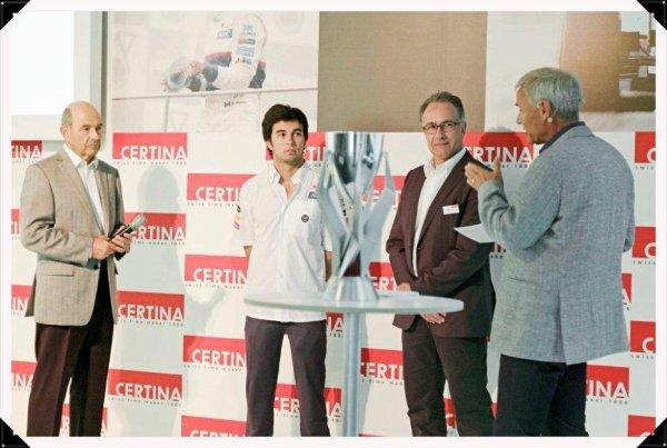 Présentation de la Certina DS Podium GMT avec Peter Sauber & Sergio Pérez