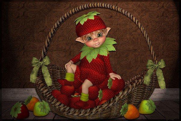 Le petit monde magique des lutins des bois.