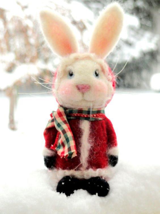 Les petites plupluches de Monsieur Noël vous souhaitent de très douces et belles fêtes de Noël.