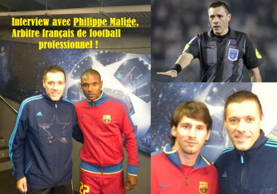 Pause Interview avec Philippe Malige, arbitre français de football professionnel.