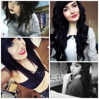 Black hair.