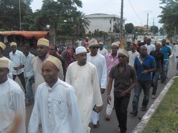 """Marche silencieuse à Moroni soutien aux accusés pour  tentative de coup d""""etat"""