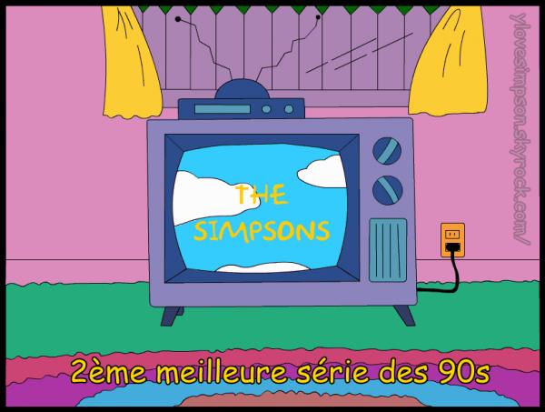 Les Simpson 2ème meilleure série des 90s
