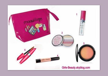 MAKE UP : 5 éléments indispensable dans votre trousse de maquillage.