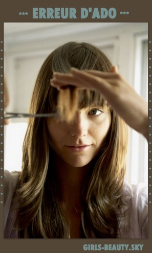 COIFFURE : Couper sa frange soi-même ERREUR !!