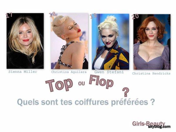 COIFFURE : Les 20 plus belles coiffures de l'année 2010 !!