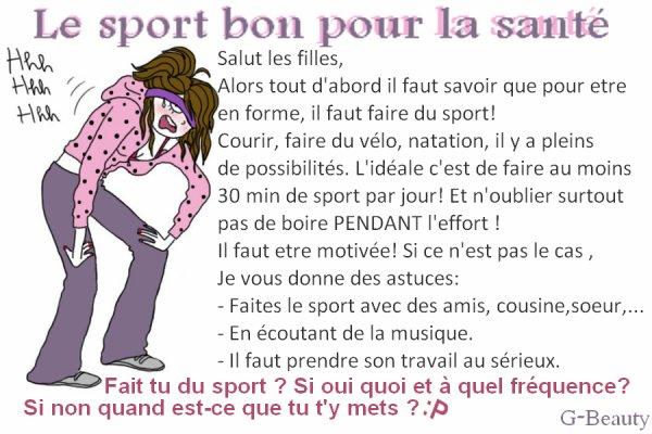BEAUTÉ : Le sport bon pour la santé
