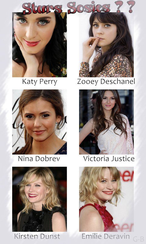 PEOPLE : Les ressemblances entres stars , impressionnant !