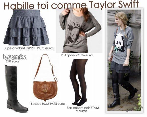 LOOK : Adopte le look de Taylor Swift .