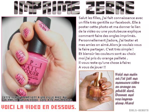 NAIL ART de la webmiss : Les ongles imprimés.