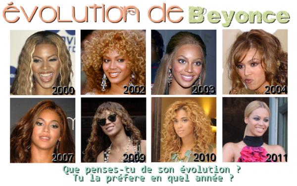 PEOPLE : L'évolution de Beyoncé