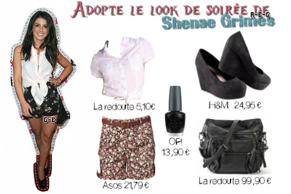 LOOK : Adopte les deux tenues de Shenae Grimes. Tenue de jour et Tenue de soir. Vos avis ?