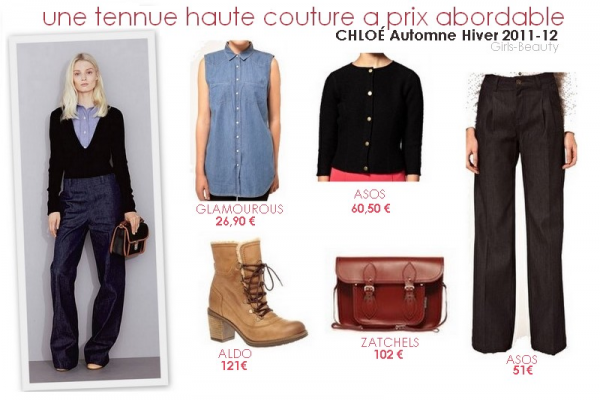 LOOK : Une tenue by CHLOÉ Automne hiver 2011-12  a prix abordable.
