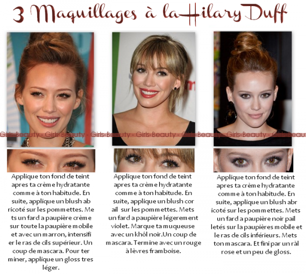 MAKE UP : Reproduis toi même les maquillage de Hilary Duff !