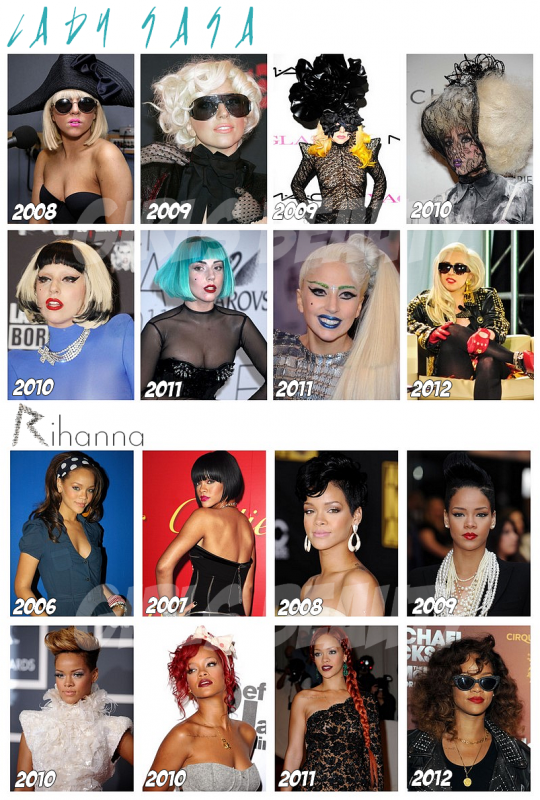PEOPLE : Quelques CV beauté de stars. Lady Gaga, Rihanna,Gwyneth Paltrow, Katy perry. Vos Avis ?